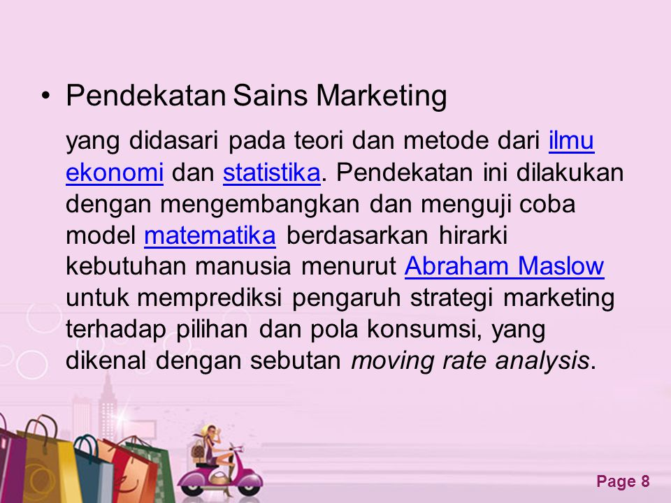 Pendekatan Sains Marketing