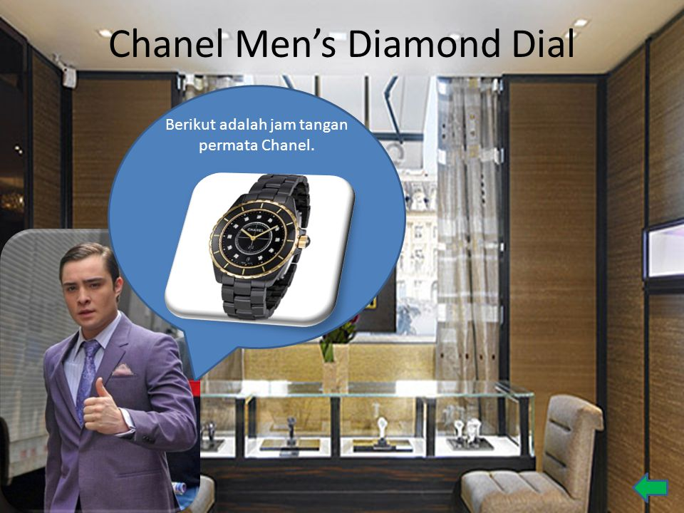 Chanel Men's Diamond Dial