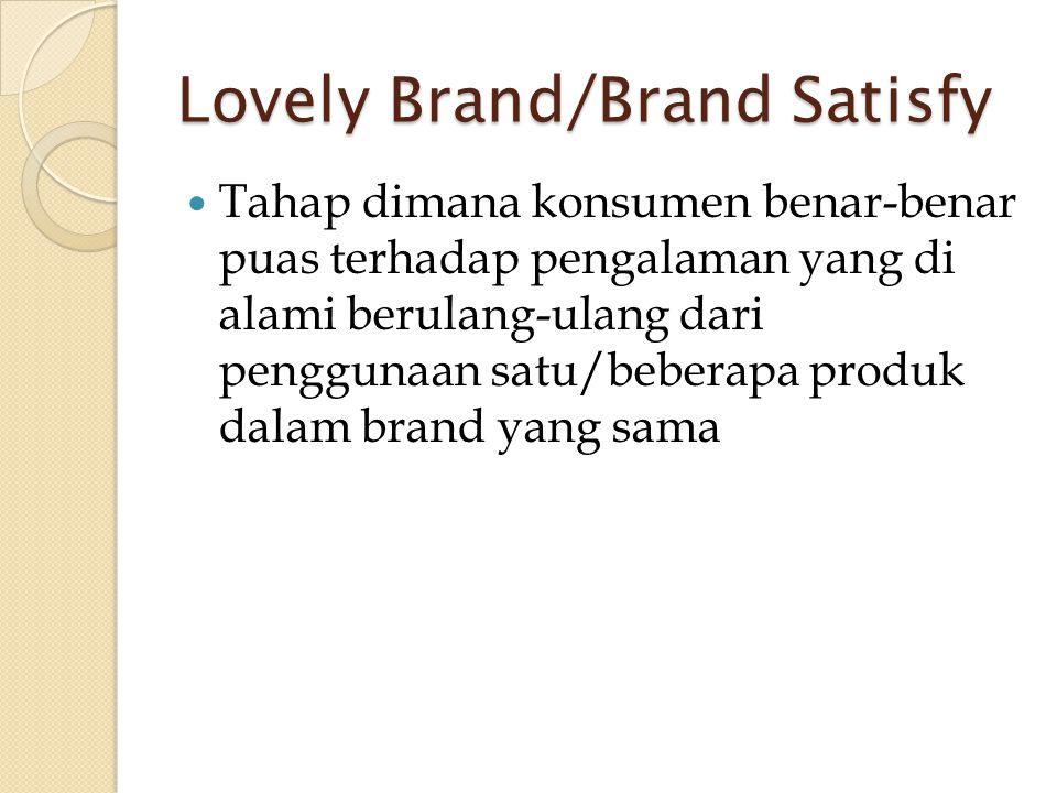 Lovely Brand/Brand Satisfy