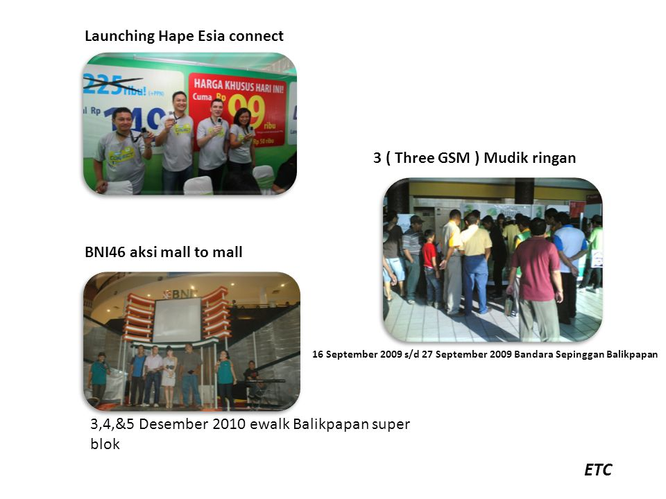 ETC Launching Hape Esia connect 3 ( Three GSM ) Mudik ringan