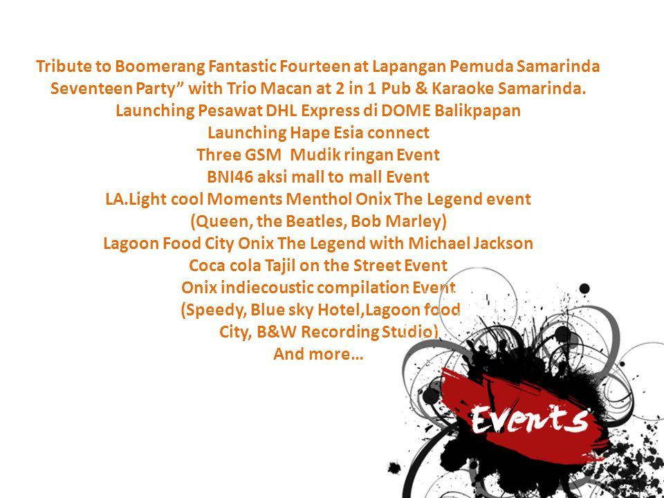 Tribute to Boomerang Fantastic Fourteen at Lapangan Pemuda Samarinda