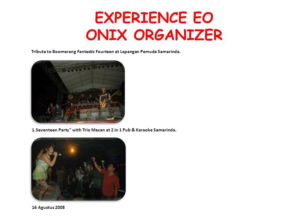 EXPERIENCE EO ONIX ORGANIZER