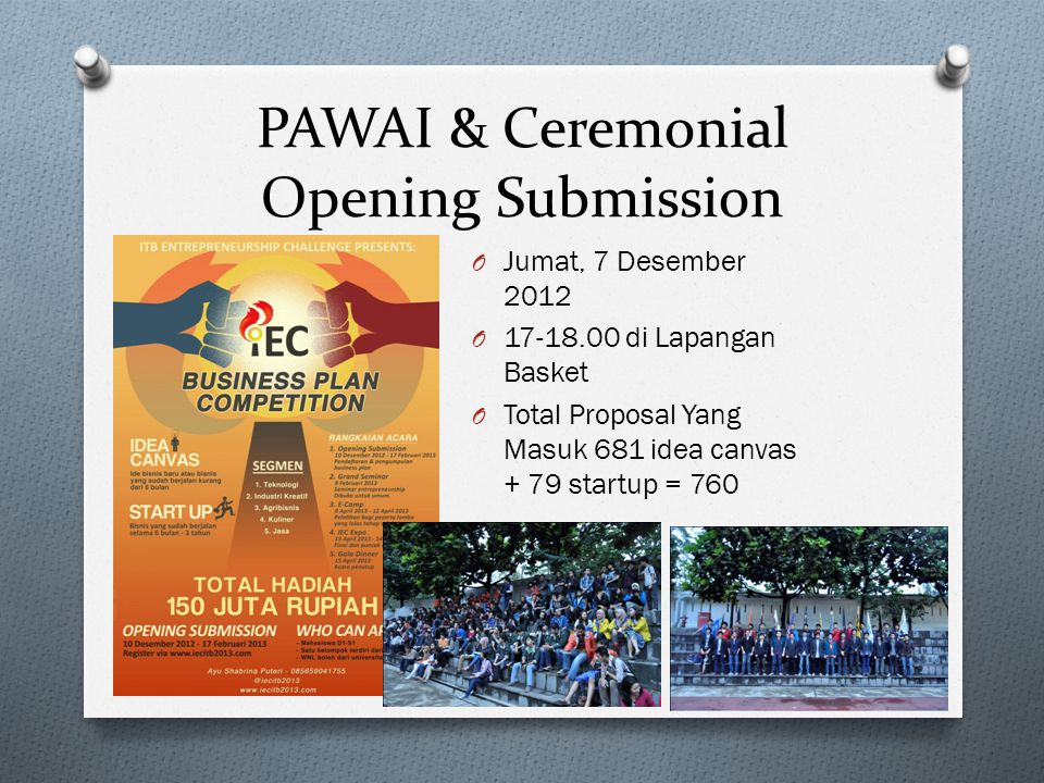 PAWAI & Ceremonial Opening Submission