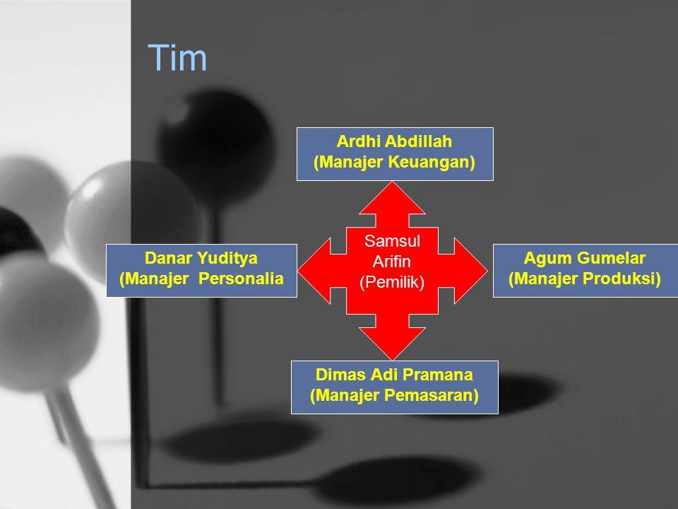 Tim Ardhi Abdillah (Manajer Keuangan) Samsul Arifin (Pemilik)