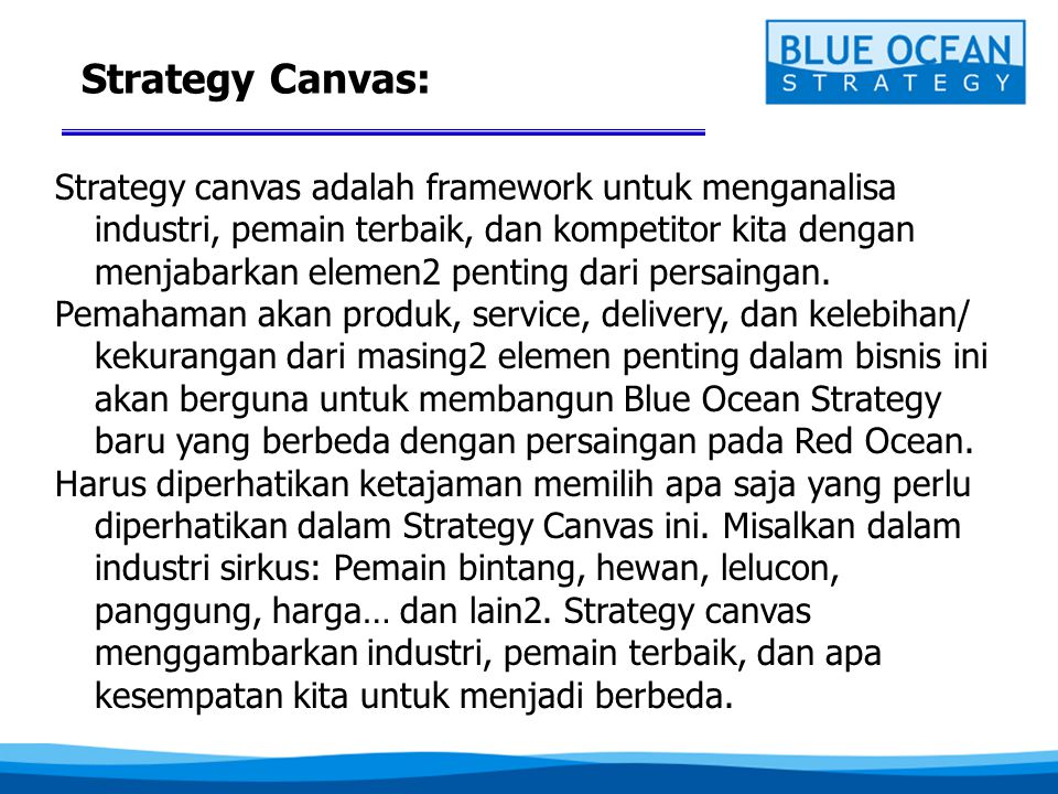 Strategy Canvas: