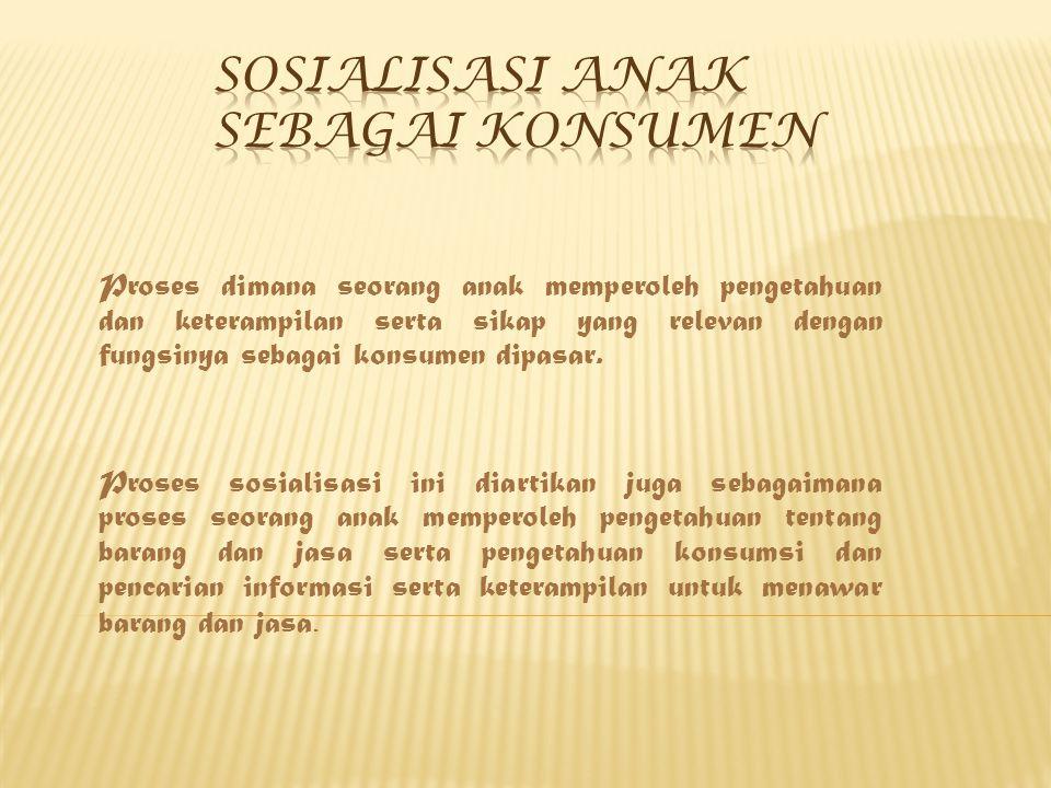 Sosialisasi anak Sebagai Konsumen