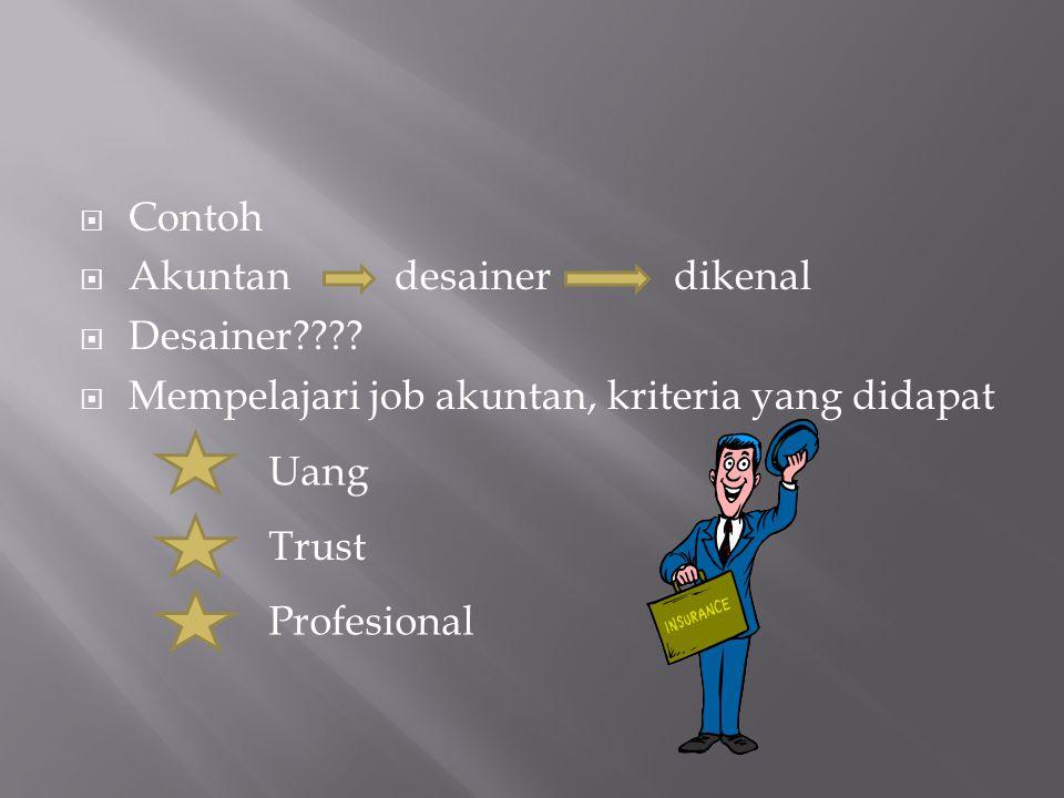 Contoh Akuntan desainer dikenal. Desainer Mempelajari job akuntan, kriteria yang didapat.