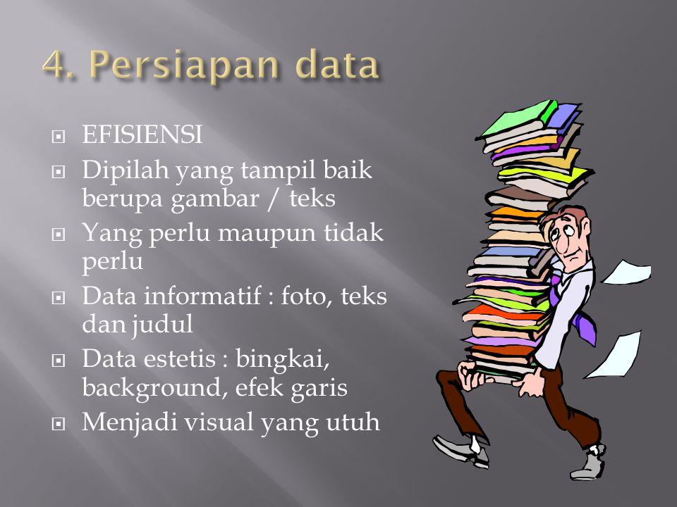 4. Persiapan data EFISIENSI