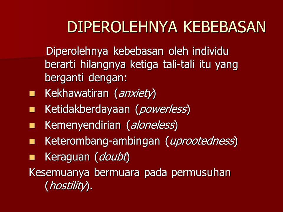 DIPEROLEHNYA KEBEBASAN