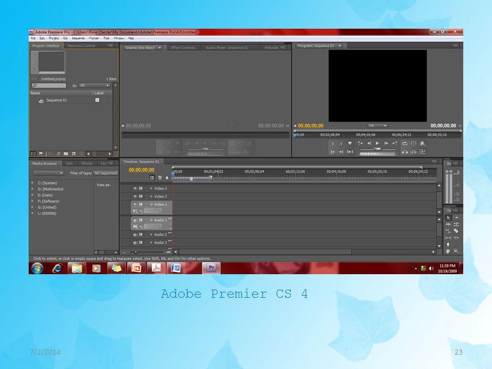 Adobe Premier CS 4 4/3/2017