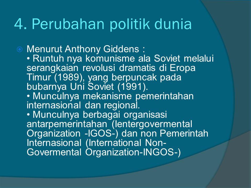 4. Perubahan politik dunia