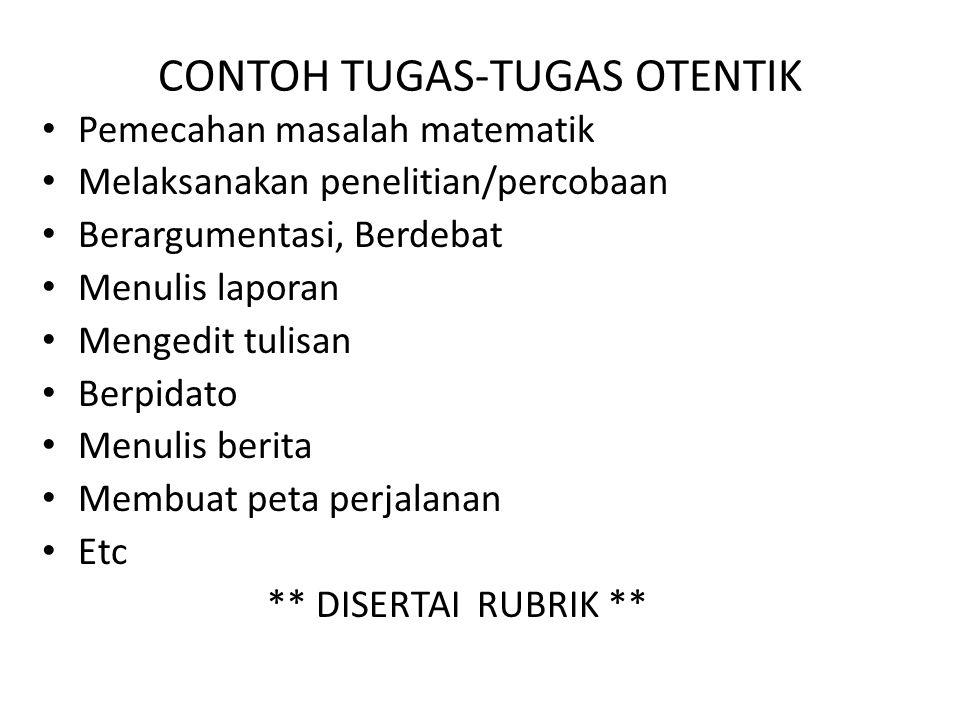 CONTOH TUGAS-TUGAS OTENTIK