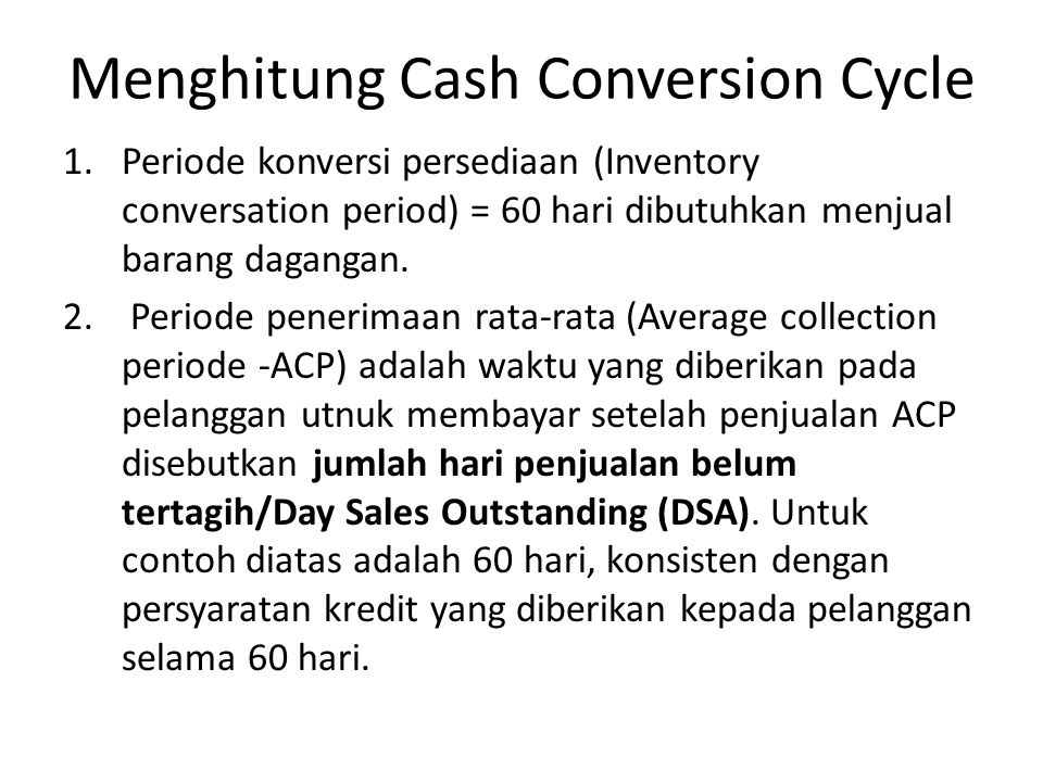 Menghitung Cash Conversion Cycle
