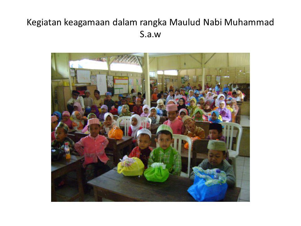 Kegiatan keagamaan dalam rangka Maulud Nabi Muhammad S.a.w