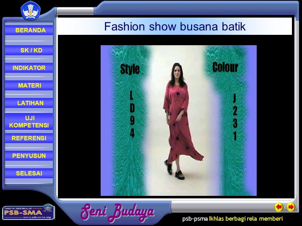 Fashion show busana batik