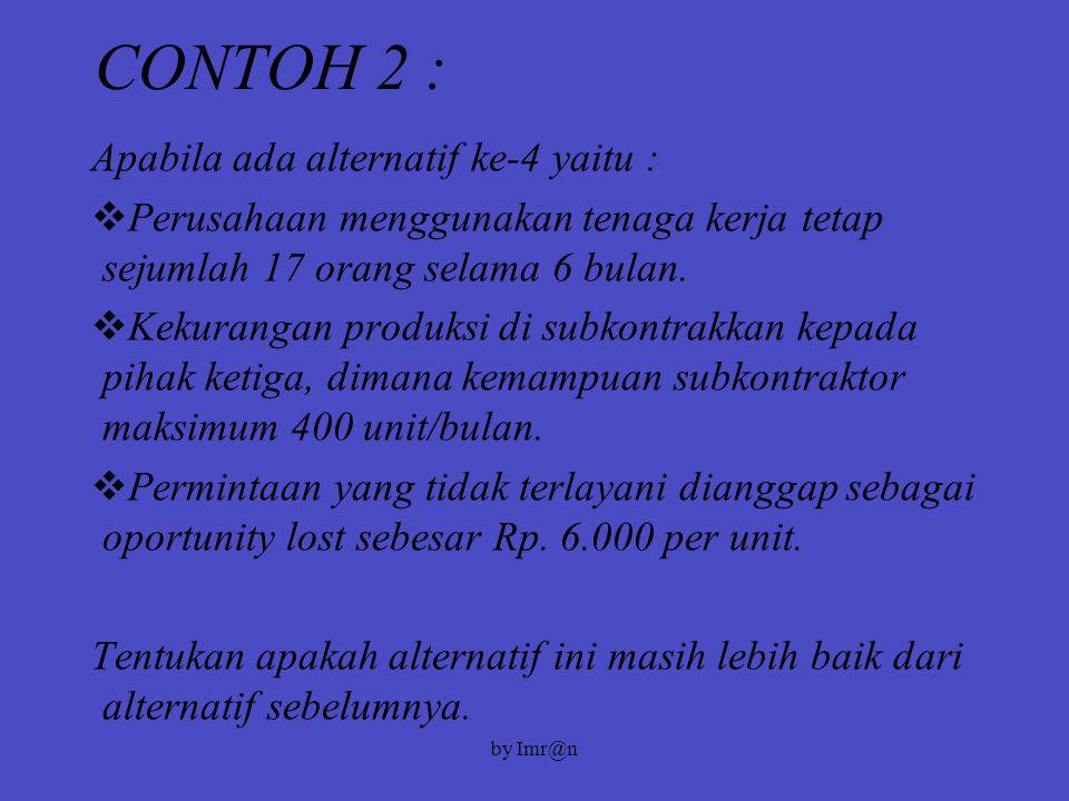CONTOH 2 : Apabila ada alternatif ke-4 yaitu :