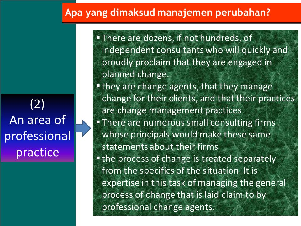 An area of professional practice