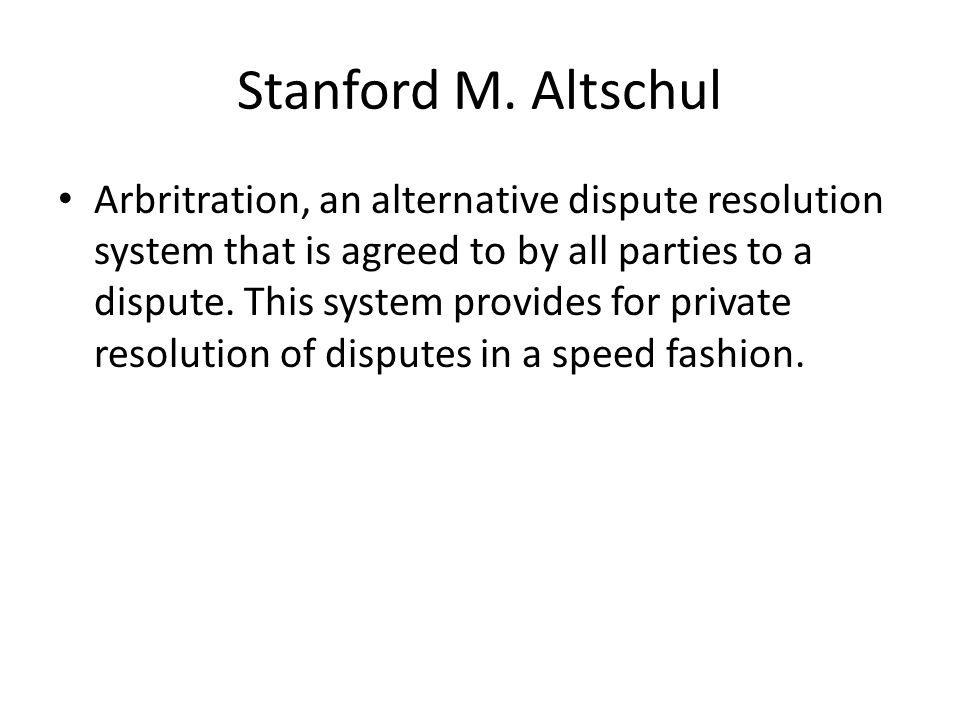 Stanford M. Altschul