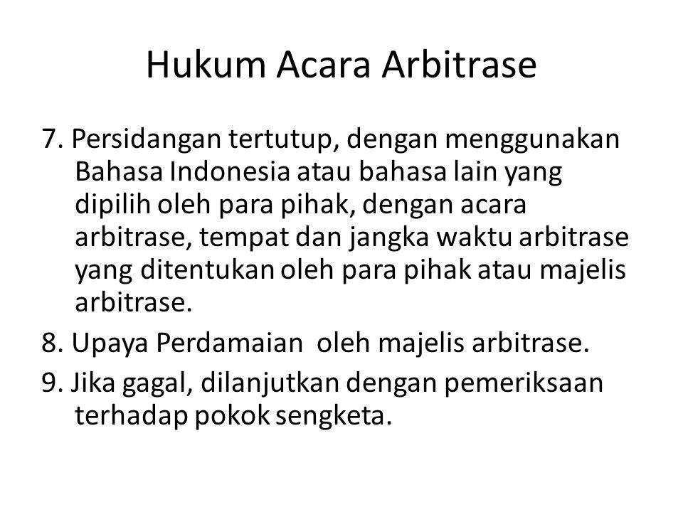 Hukum Acara Arbitrase
