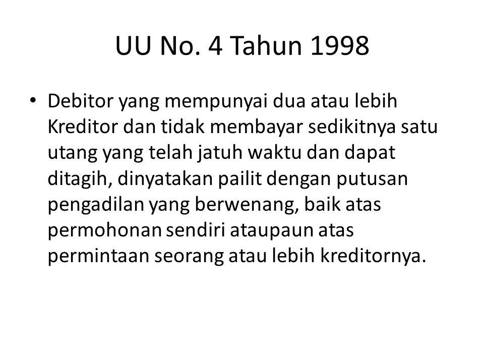 UU No. 4 Tahun 1998