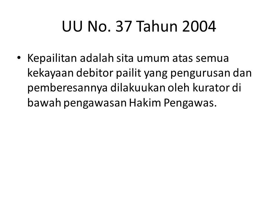 UU No. 37 Tahun 2004
