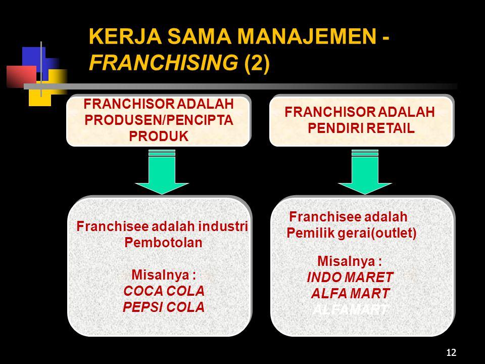 KERJA SAMA MANAJEMEN -FRANCHISING (2)