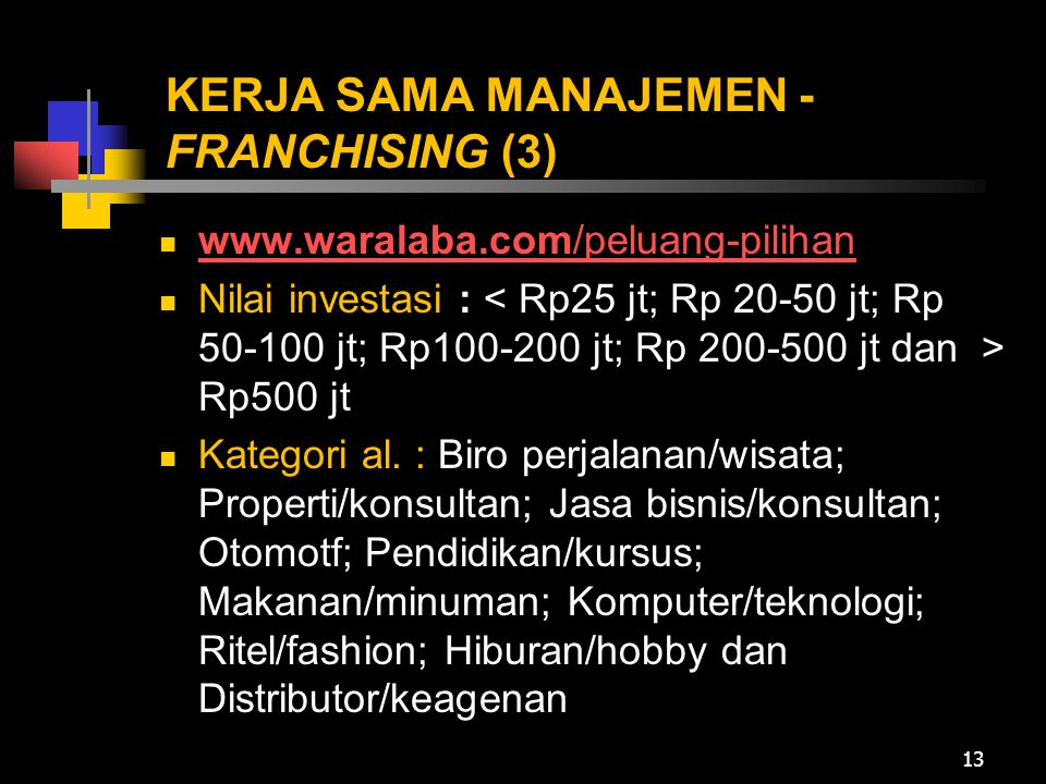 KERJA SAMA MANAJEMEN -FRANCHISING (3)