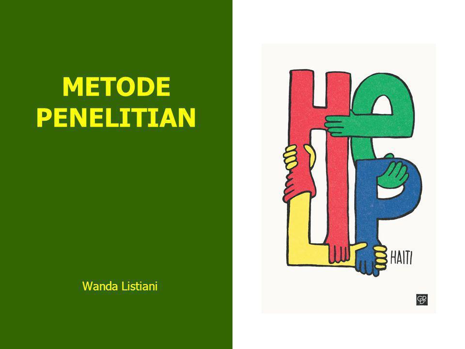 METODE PENELITIAN Wanda Listiani