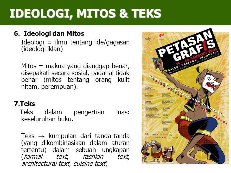 IDEOLOGI, MITOS & TEKS 6. Ideologi dan Mitos