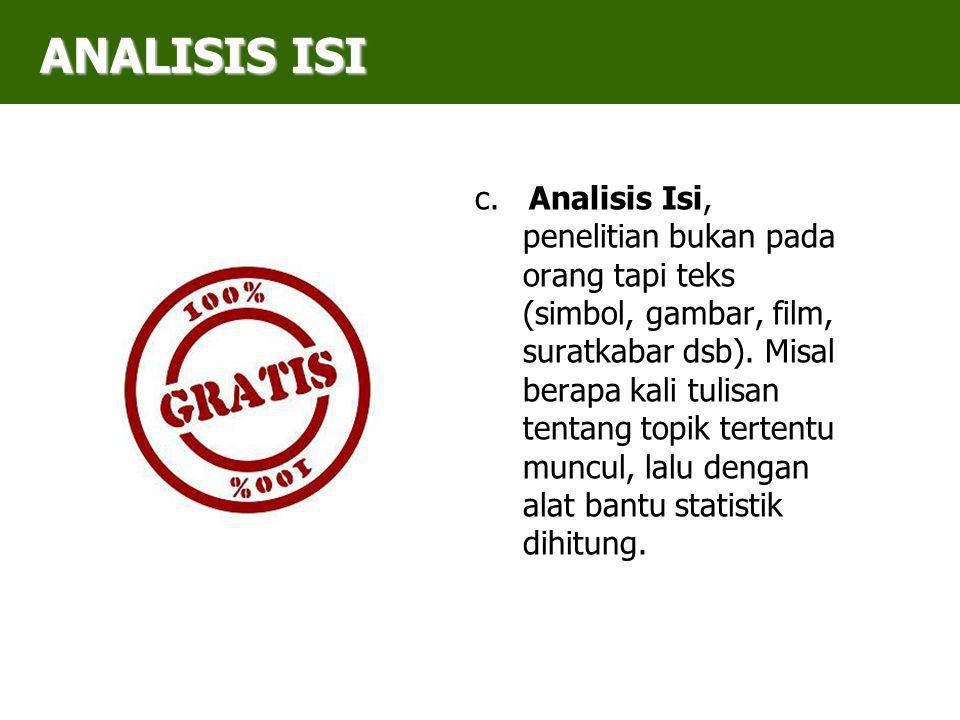 ANALISIS ISI