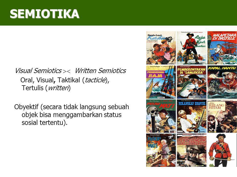 SEMIOTIKA Visual Semiotics  Written Semiotics