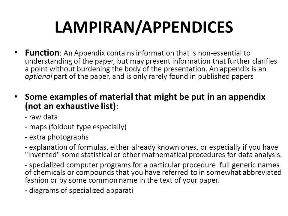 LAMPIRAN/APPENDICES