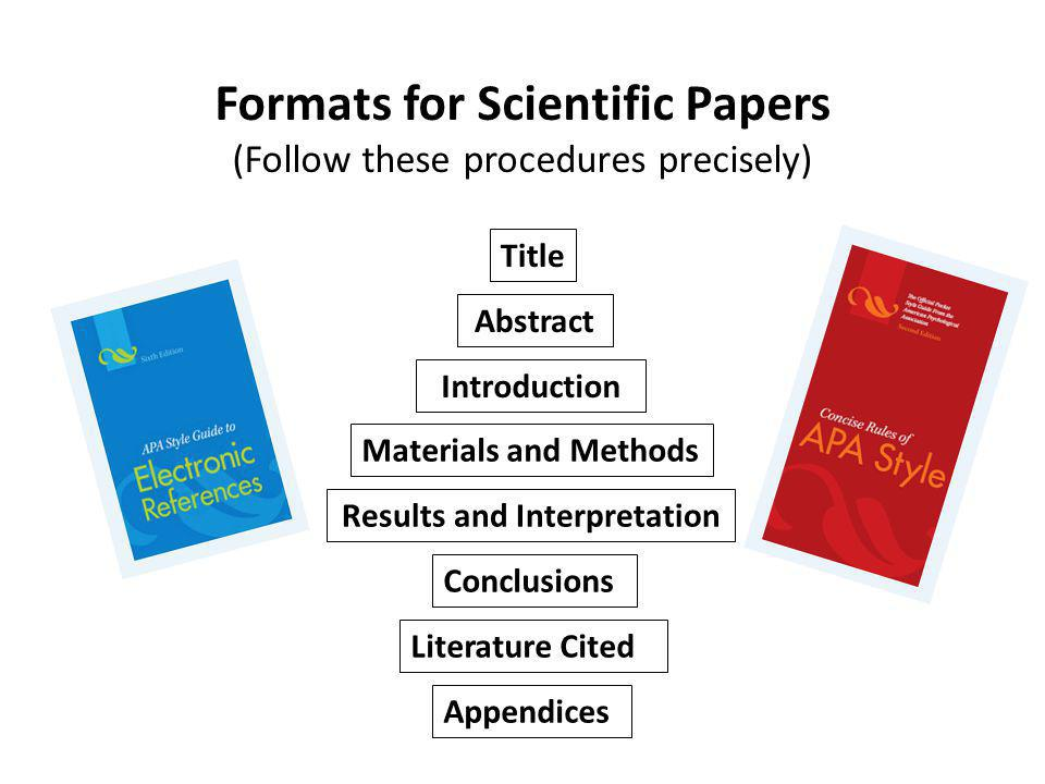 Formats for Scientific Papers Results and Interpretation