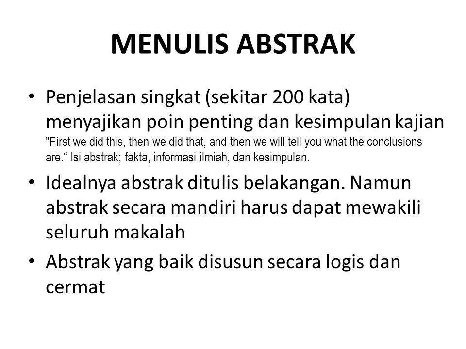 MENULIS ABSTRAK