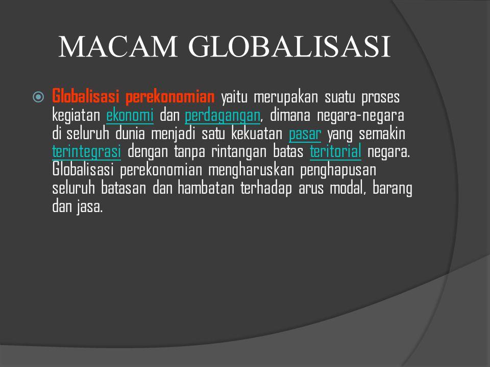 MACAM GLOBALISASI