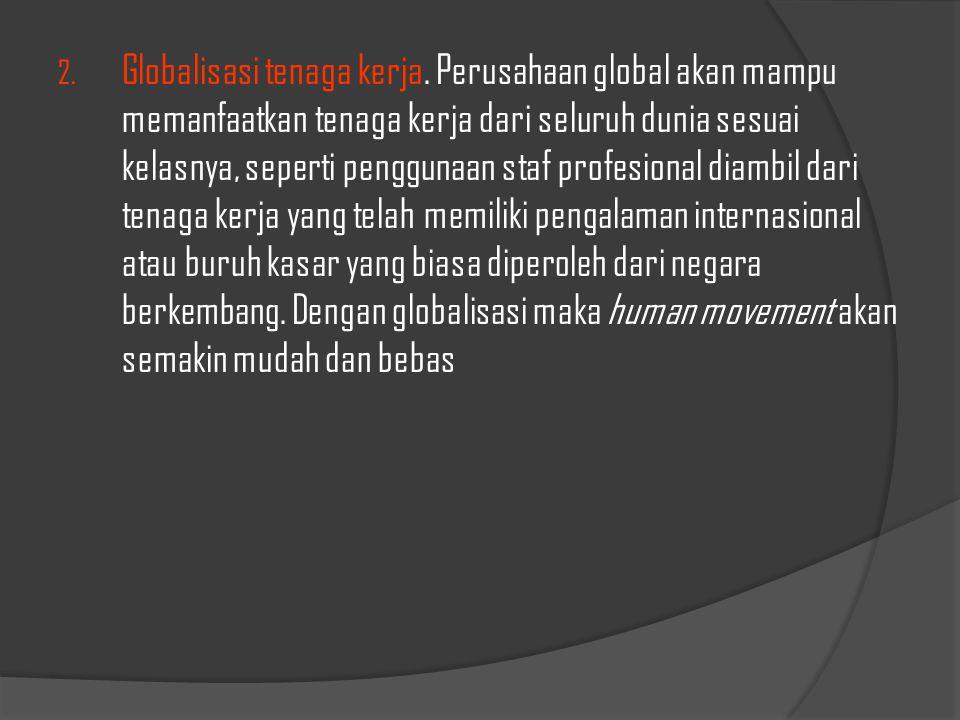 Globalisasi tenaga kerja