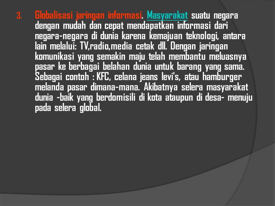 Globalisasi jaringan informasi