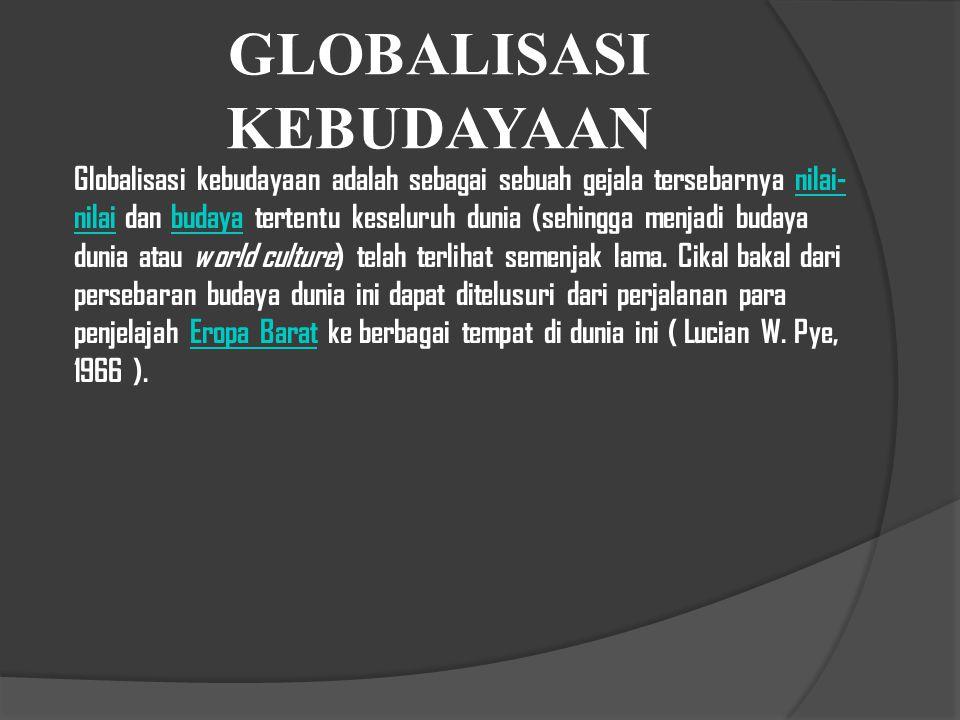 GLOBALISASI KEBUDAYAAN