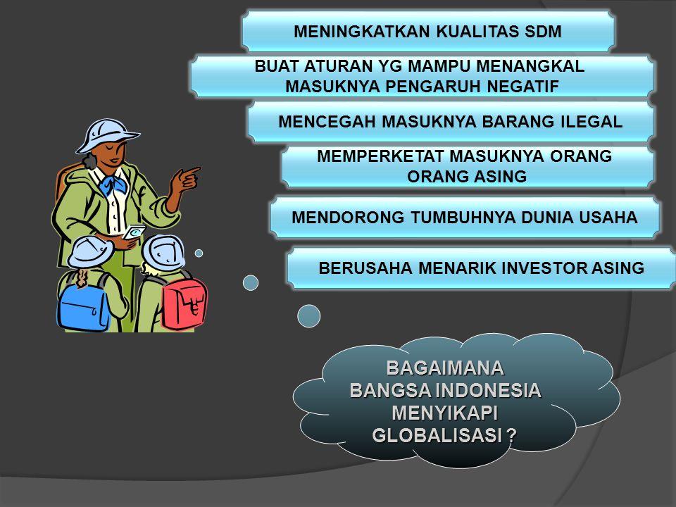 BAGAIMANA BANGSA INDONESIA MENYIKAPI GLOBALISASI