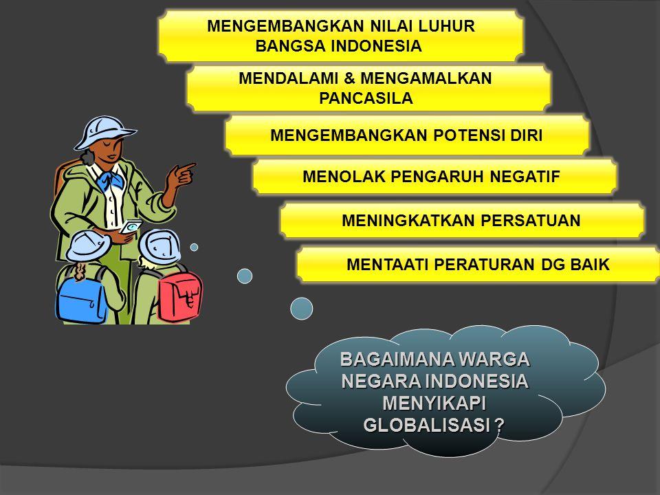 BAGAIMANA WARGA NEGARA INDONESIA MENYIKAPI GLOBALISASI