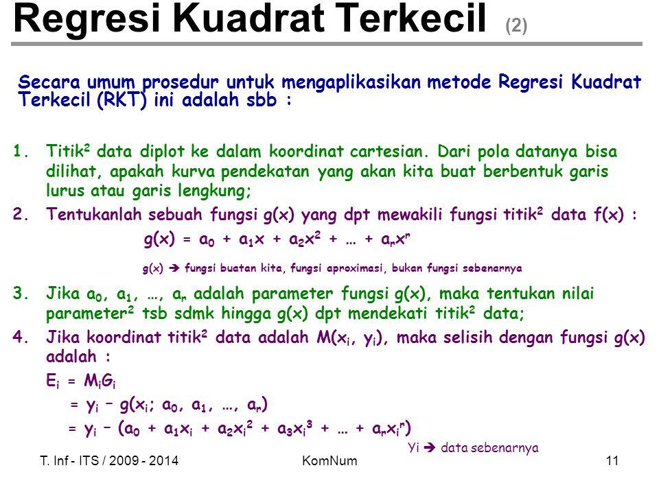 Regresi Kuadrat Terkecil (2)
