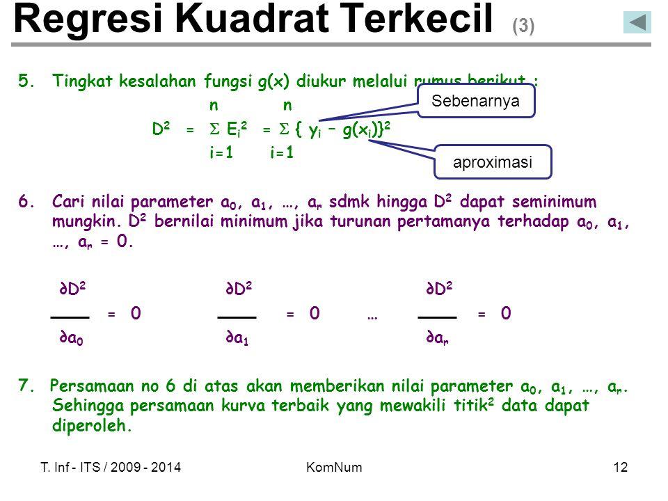 Regresi Kuadrat Terkecil (3)