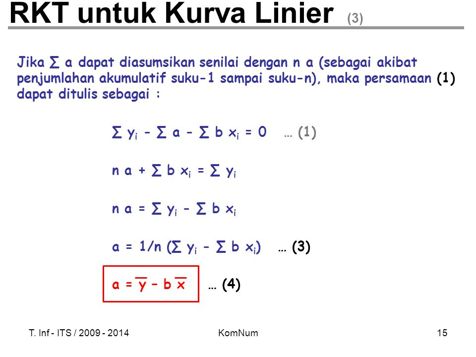 RKT untuk Kurva Linier (3)