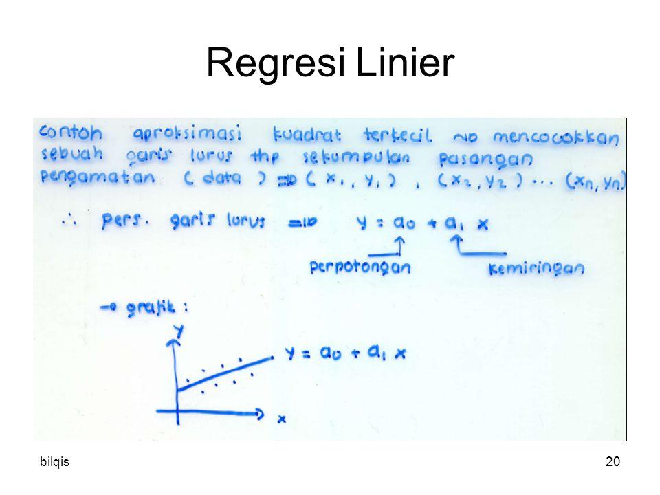 Regresi Linier bilqis