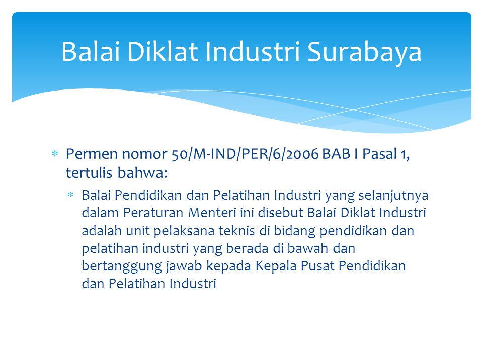 Balai Diklat Industri Surabaya