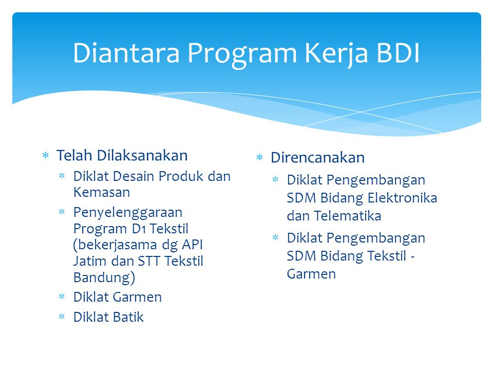 Diantara Program Kerja BDI