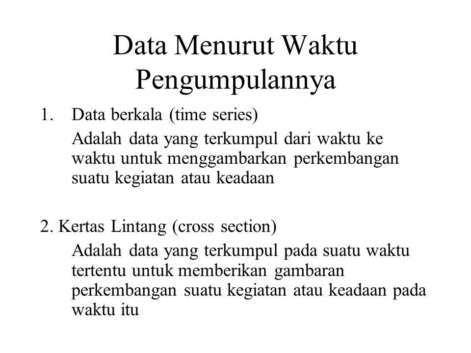 Data Menurut Waktu Pengumpulannya