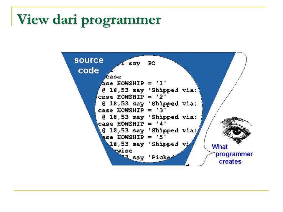 View dari programmer