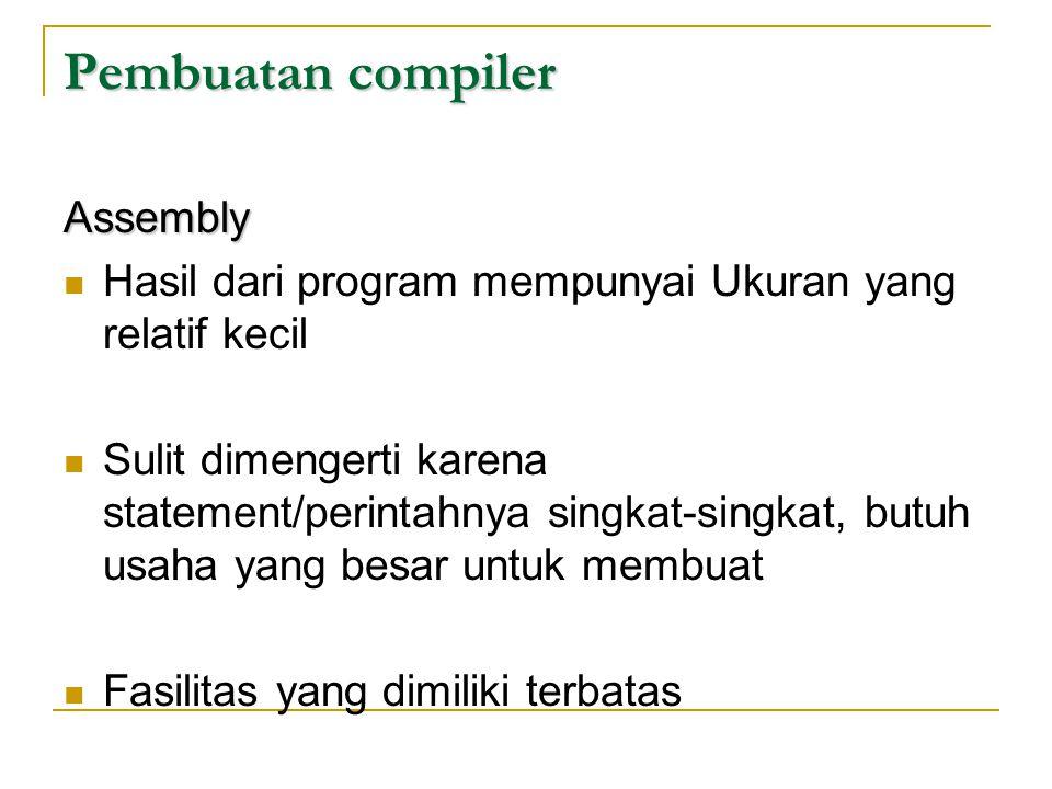 Pembuatan compiler Assembly