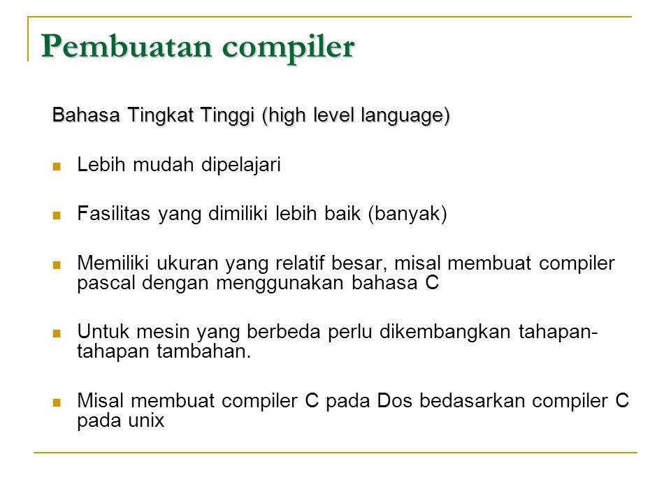 Pembuatan compiler Bahasa Tingkat Tinggi (high level language)